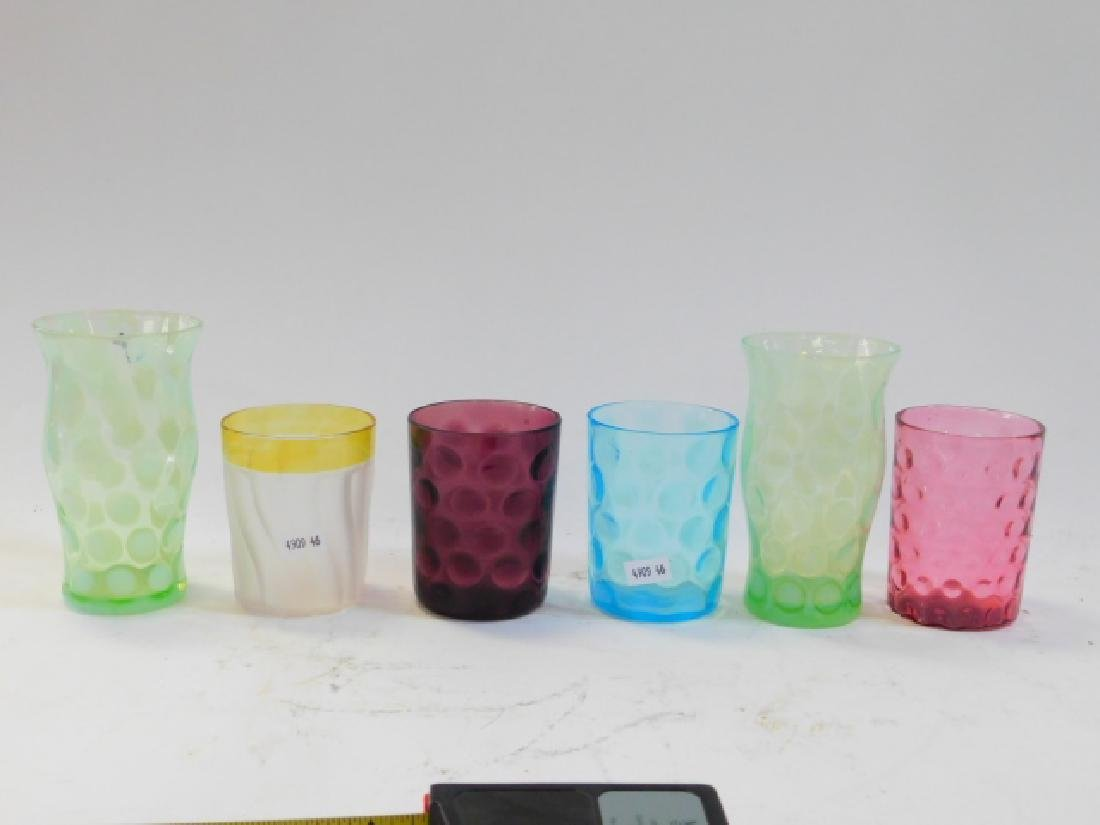 COLLECTION OF CRANBERRY AND VICTORIAN GLASSES - 2
