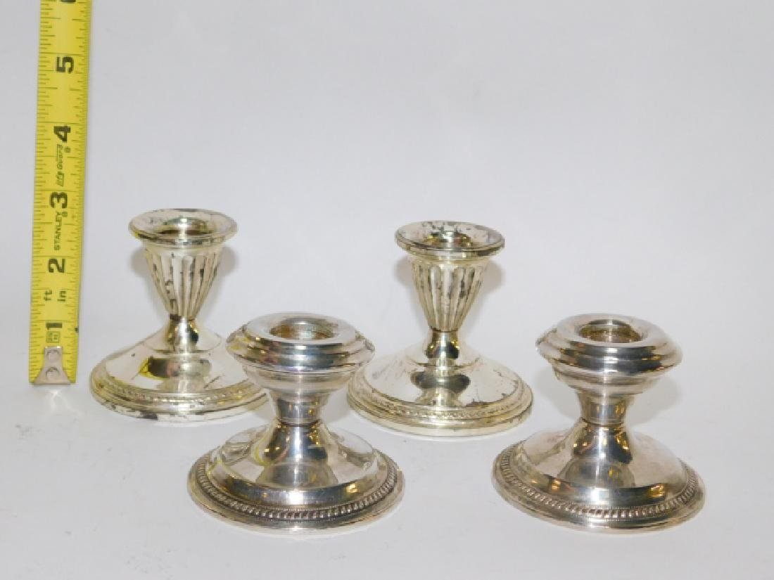 TWO PAIRS OF STERLING SILVER CANDLESTICKS - 2
