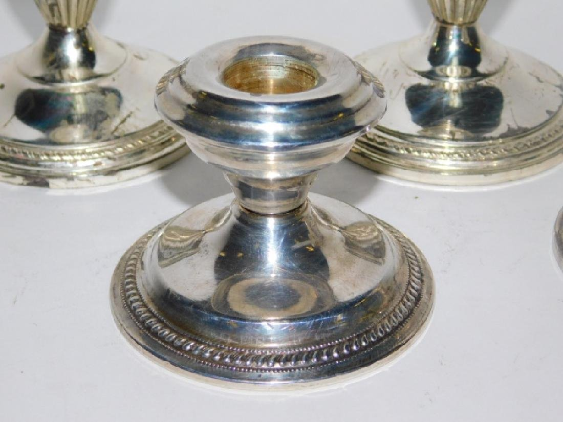 TWO PAIRS OF STERLING SILVER CANDLESTICKS - 4