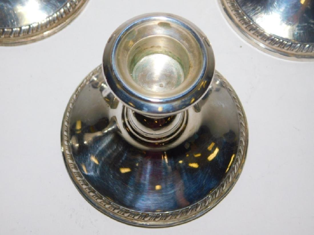 SET OF FOUR STERLING SILVER CANDLESTICKS - 3