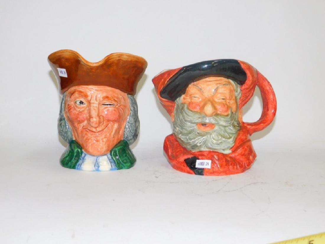 TWO LARGE ROYAL DOULTON TOBY MUGS