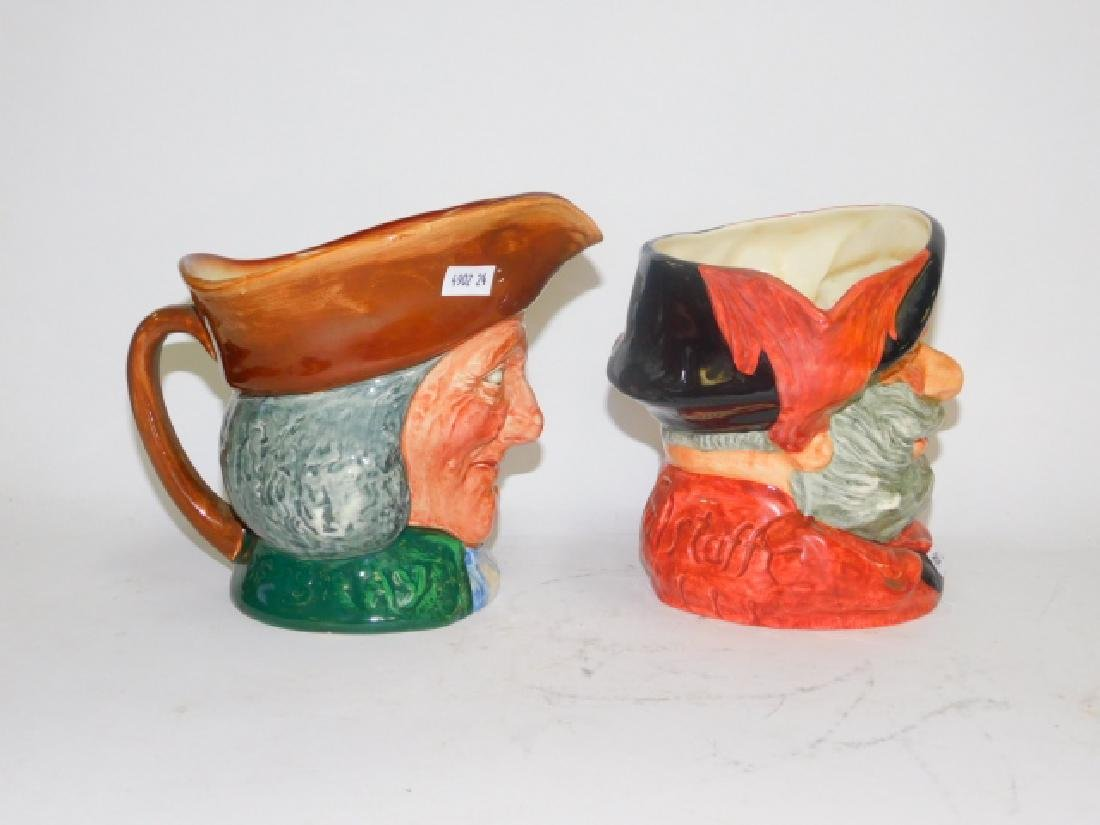 TWO LARGE ROYAL DOULTON TOBY MUGS - 6