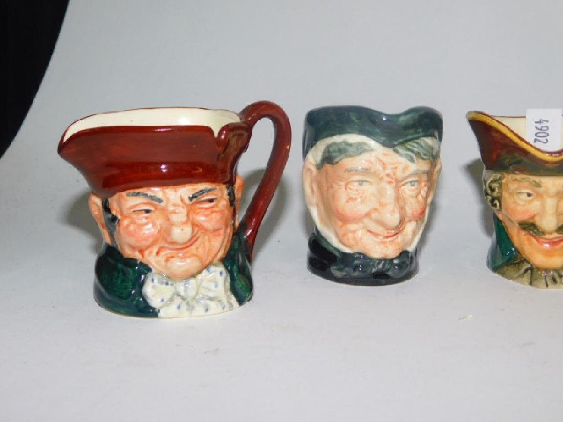 FIVE ROYAL DOULTON TOBY MUGS - 2