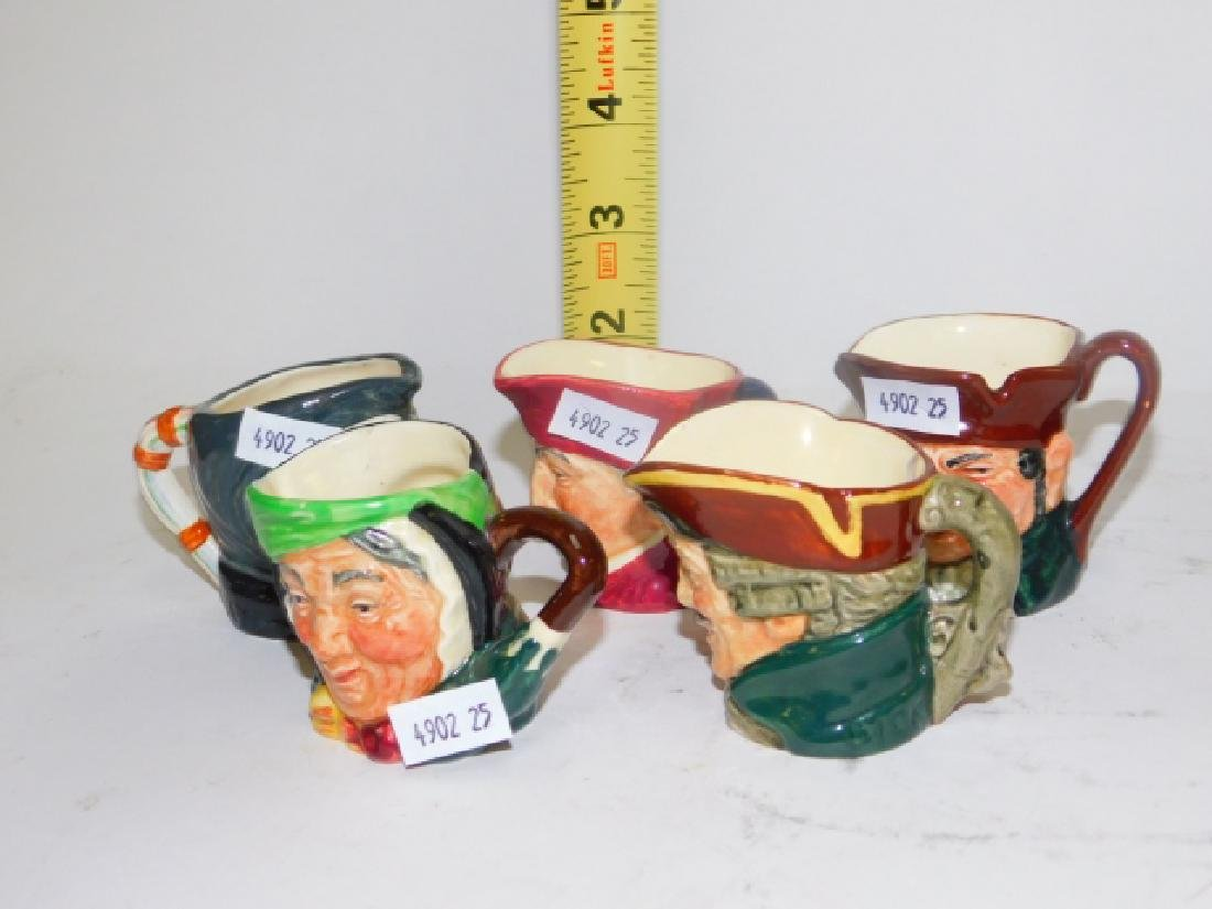 FIVE ROYAL DOULTON TOBY MUGS - 7