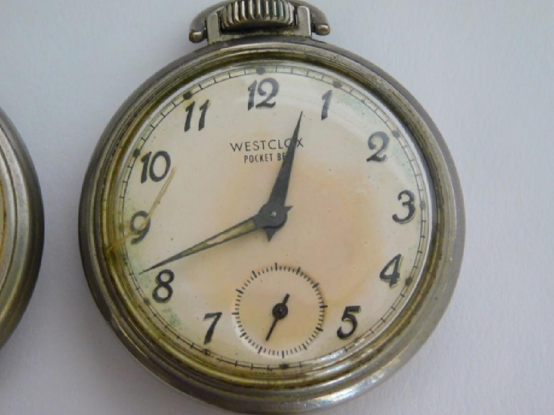 FOUR WESTCLOX POCKET WATCHES - 6