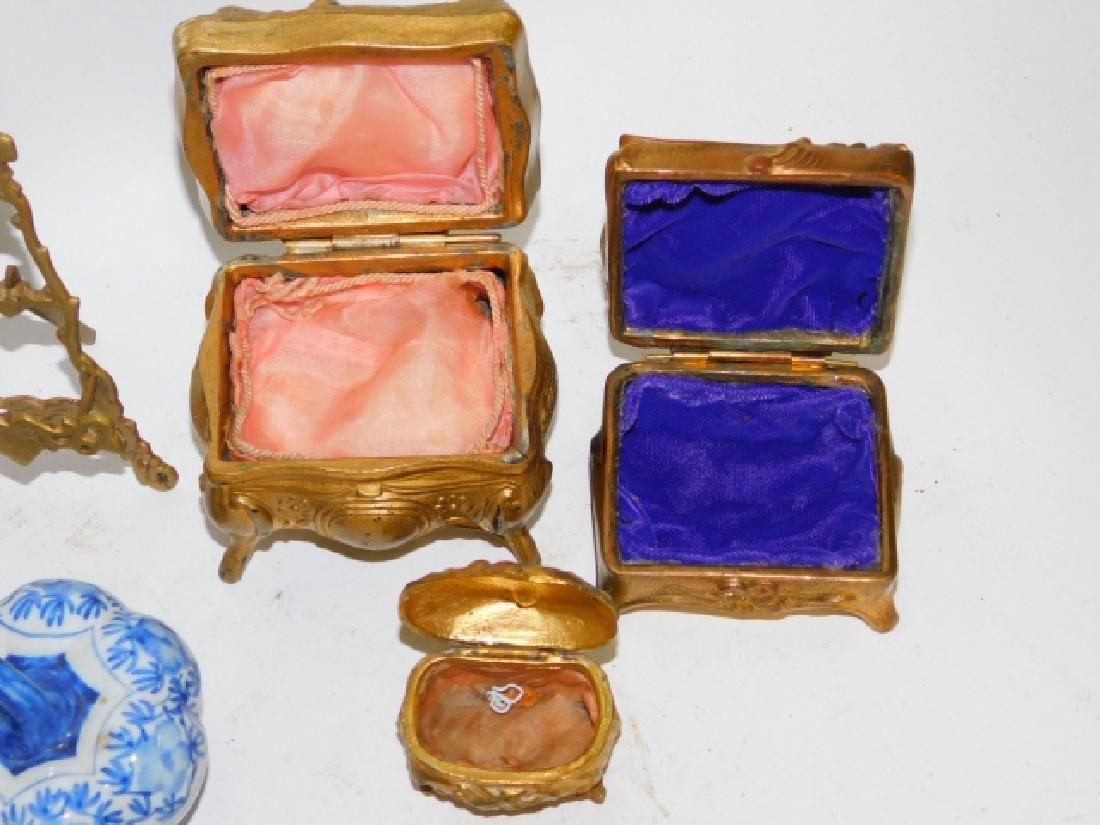 PERFUME BOTTLES, DRESSER BOXES, WEDGEWOOD - 4
