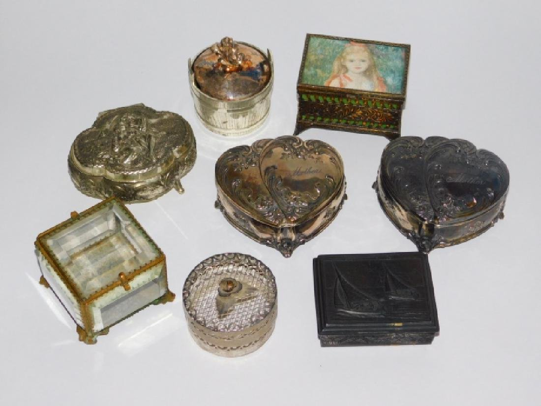 COLLECTION OF TRINKET BOXES
