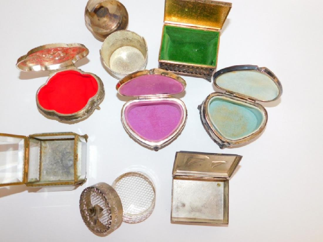 COLLECTION OF TRINKET BOXES - 2