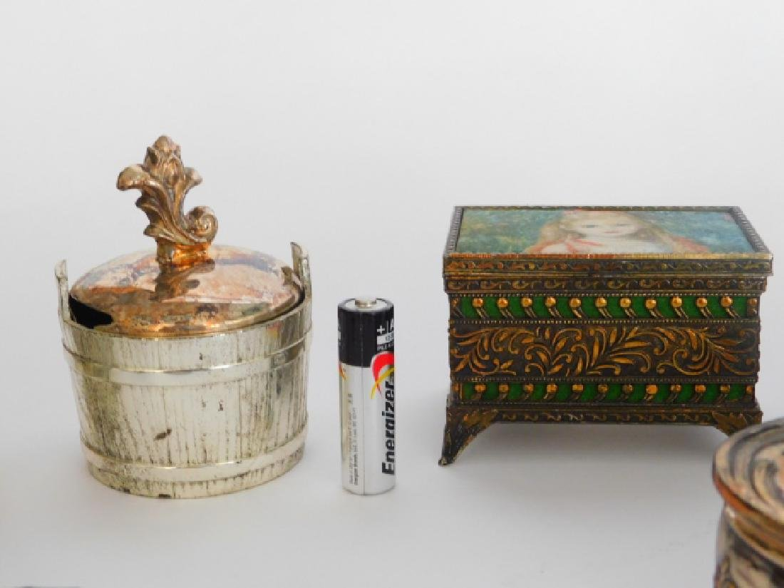 COLLECTION OF TRINKET BOXES - 4