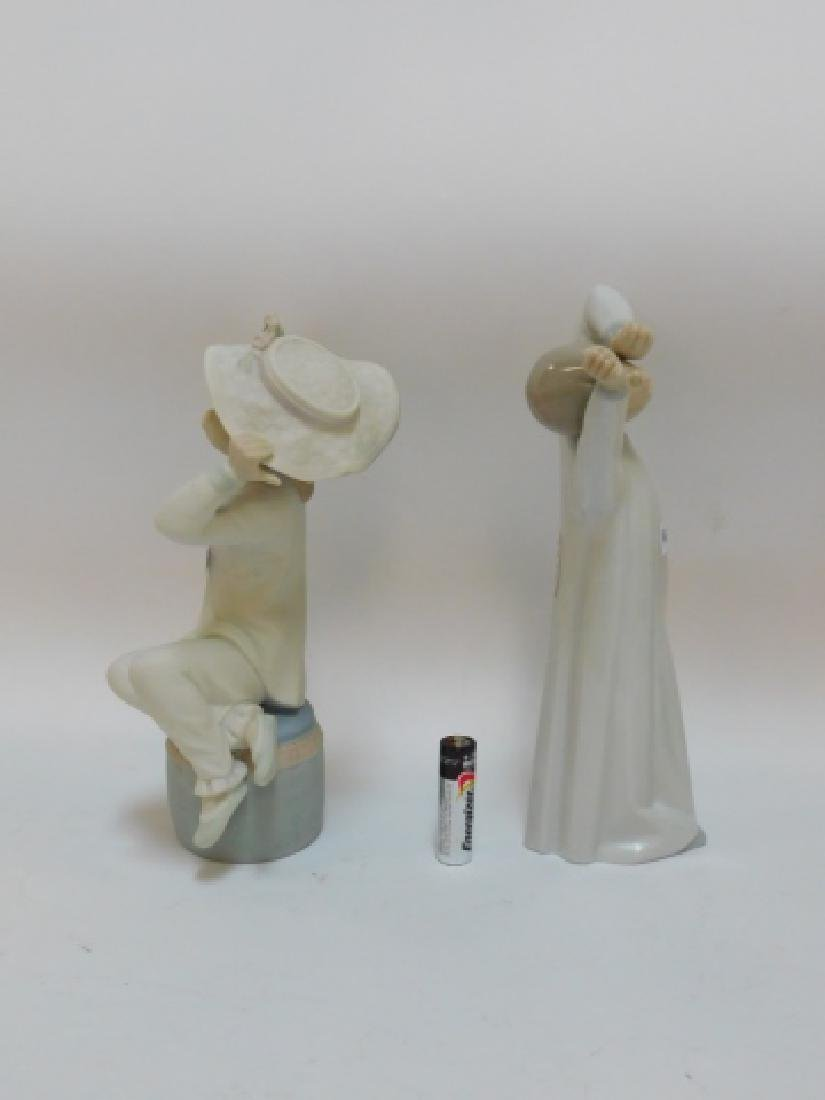 TWO LLADROS, GIRL WITH HAT & BOY YAWNING - 2