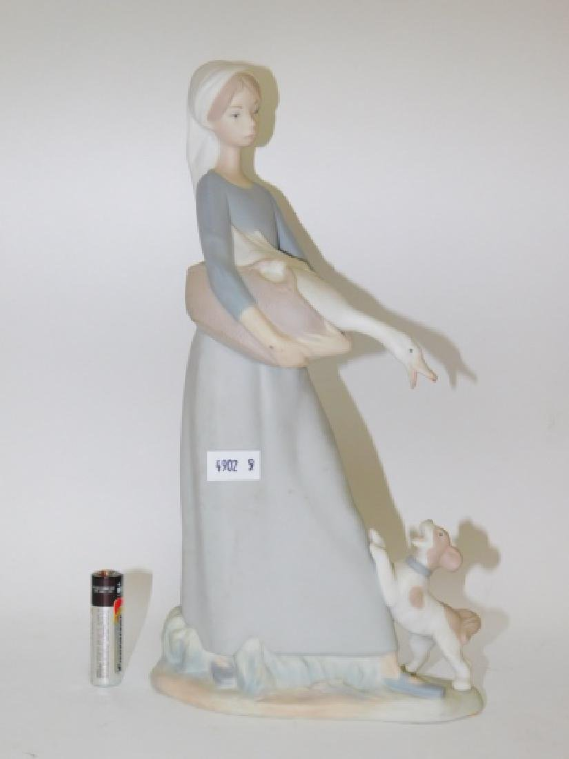 LLADRO, GOOSE GIRL WITH DOG
