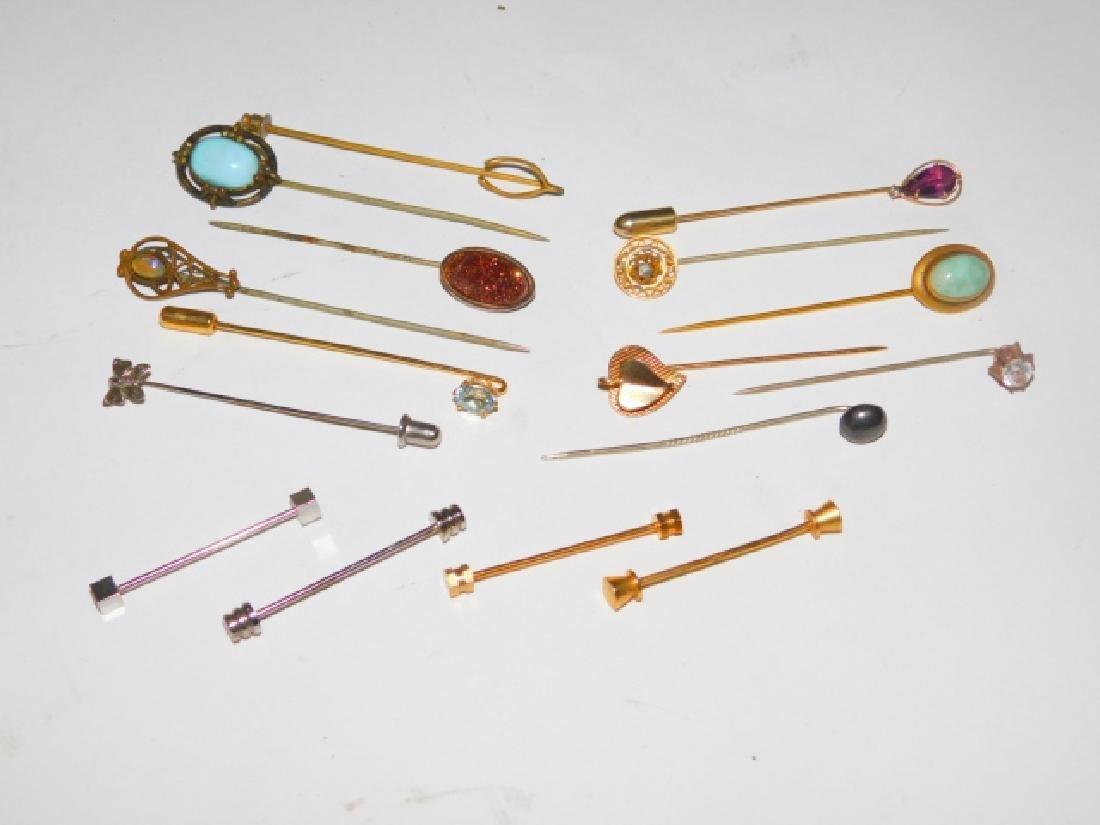 COLLECTION OF STICK PINS.