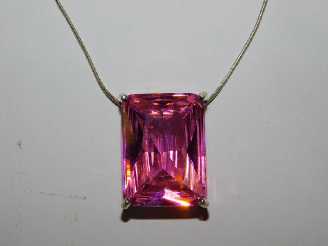 STERLING SILVER NECKLACE AND PENDANT