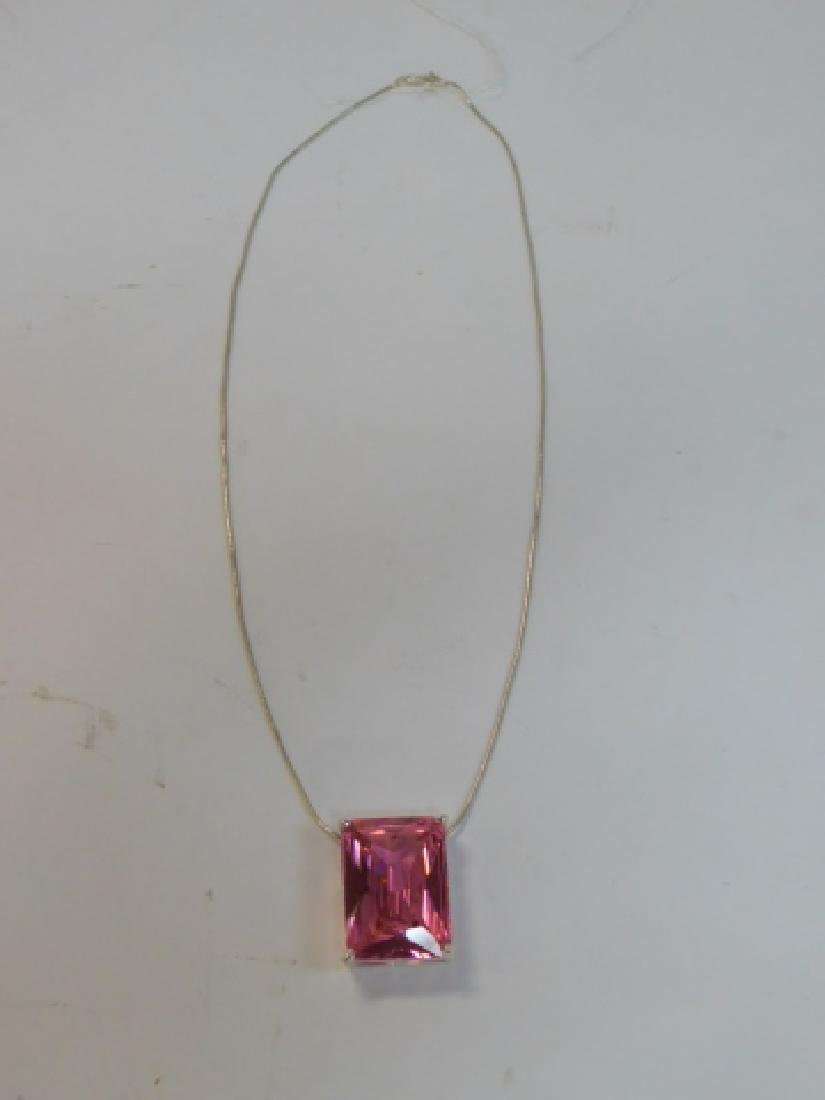 STERLING SILVER NECKLACE AND PENDANT - 3
