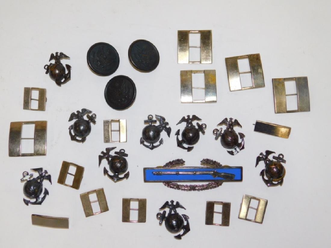 LG LOT OF MILITARY PINS AND BUTTONS
