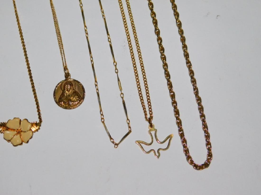 LOT OF COSTUME NECKLACES - 4