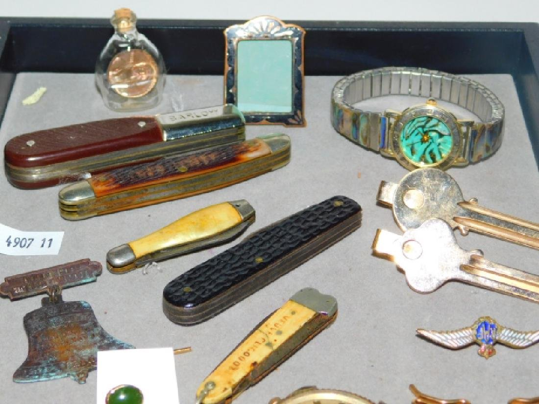 VINTAGE MONEY CLIPS, KNIVES, AND TRINKETS - 2