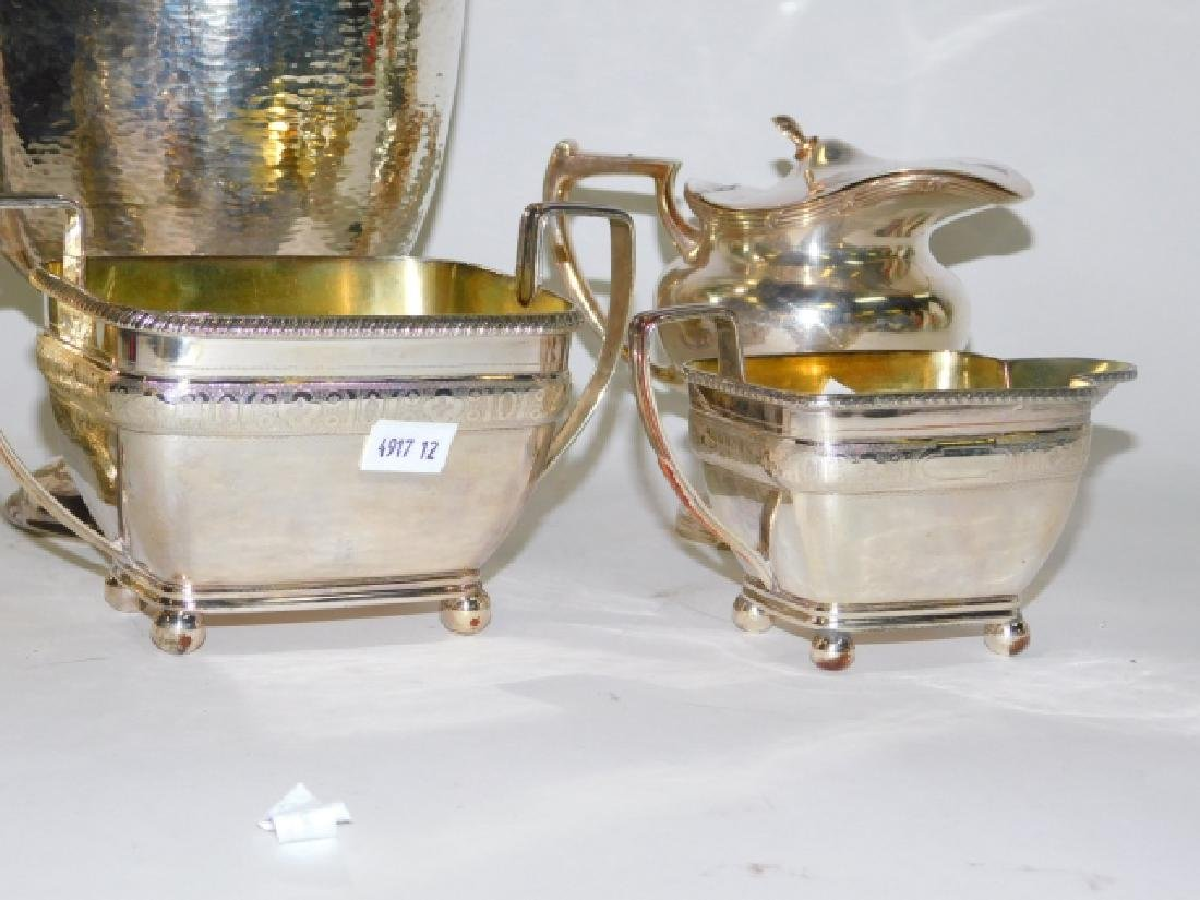 COLLECTION OF SILVER PLATE SERVING PIECES - 3