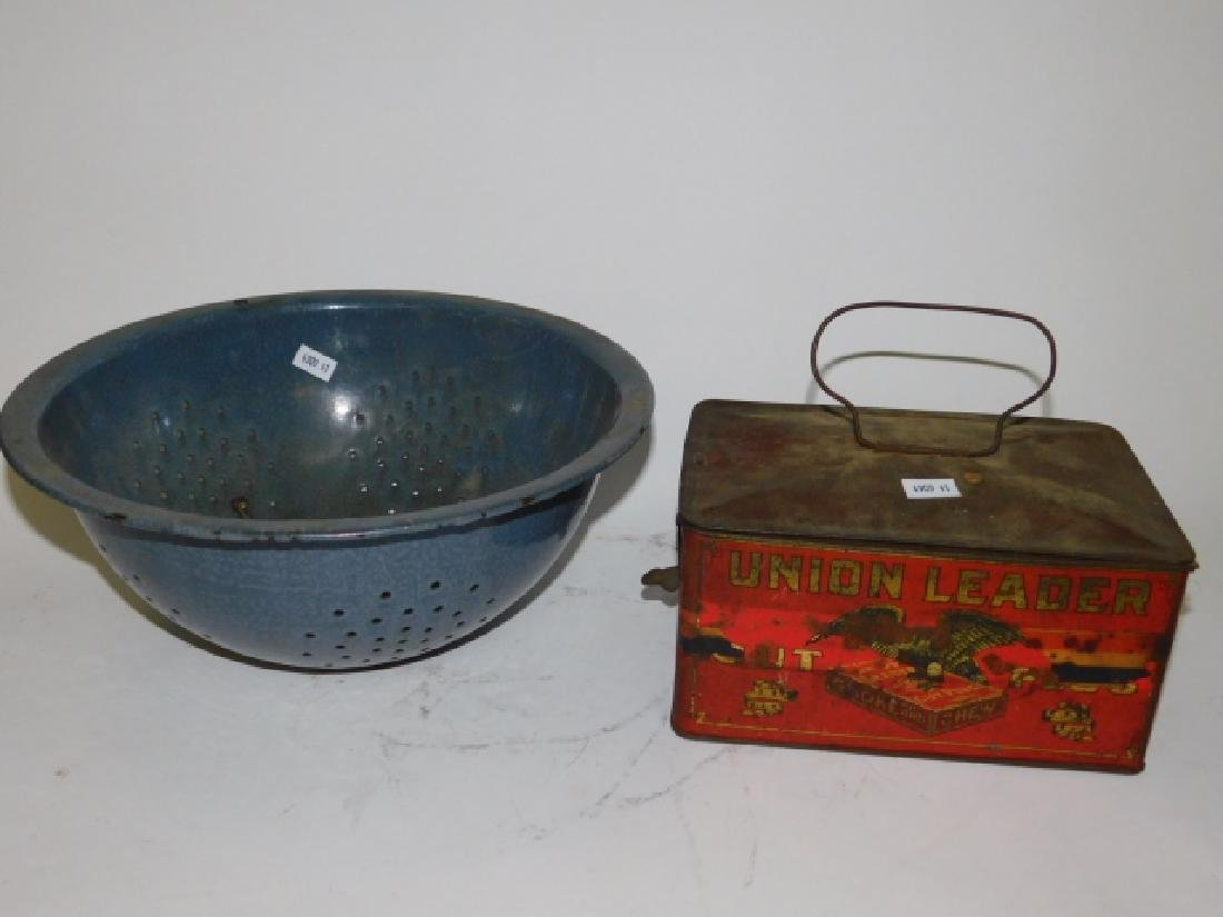 TOBACCO TIN AND STRAINER