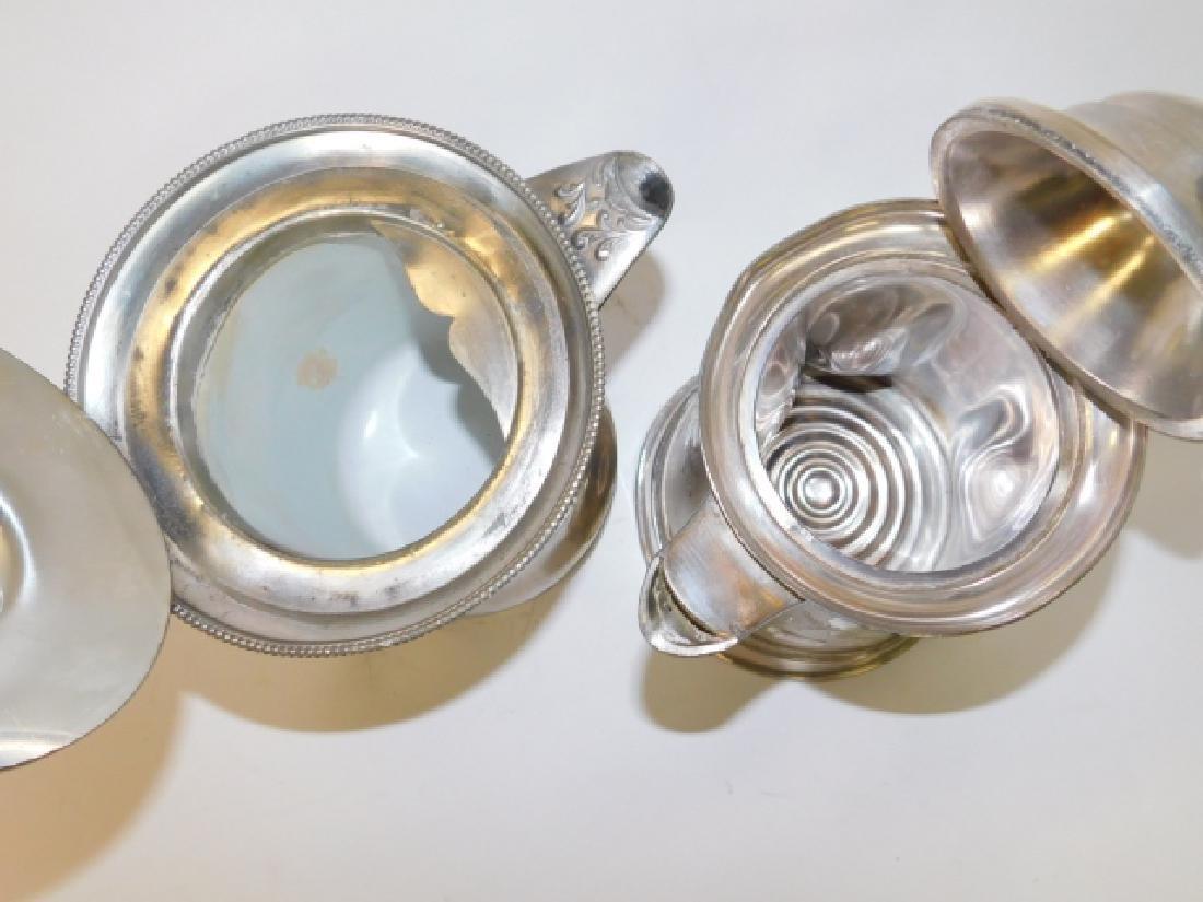 TWO SILVER PLATE TEA/COFFEE POTS - 3