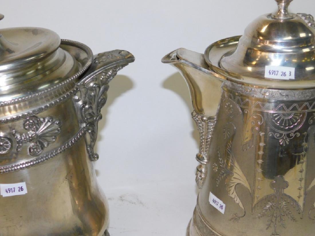 TWO SILVER PLATE TEA/COFFEE POTS - 4