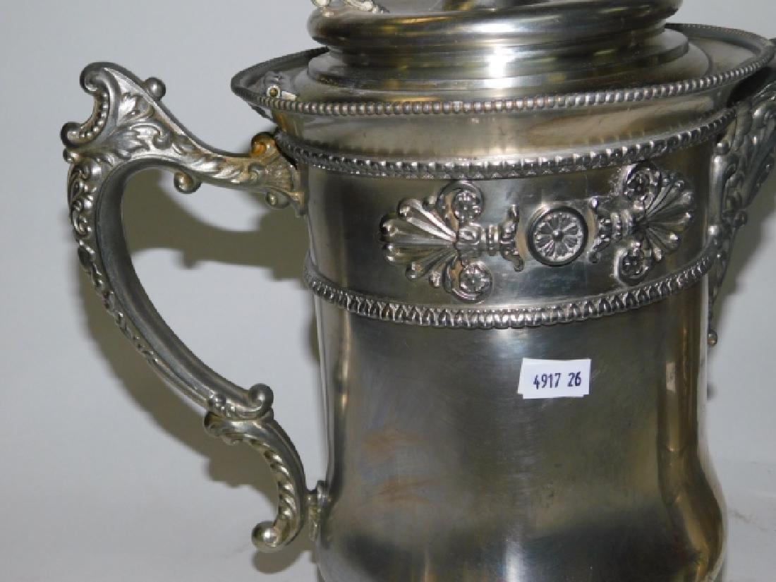 TWO SILVER PLATE TEA/COFFEE POTS - 7