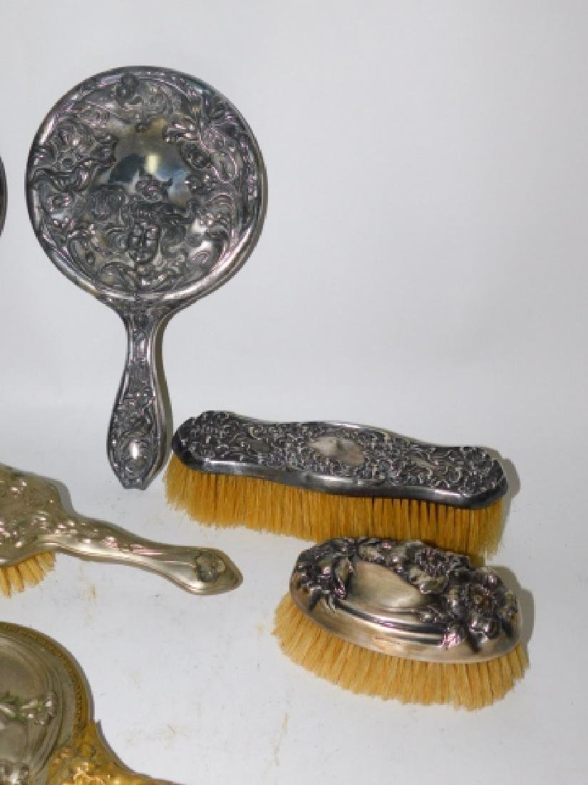 COLLECTION OF DRESSER MIRRORS AND BRUSHES - 2