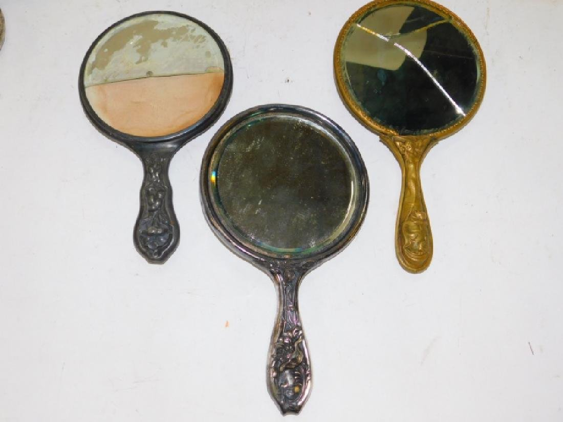 COLLECTION OF DRESSER MIRRORS AND BRUSHES - 3