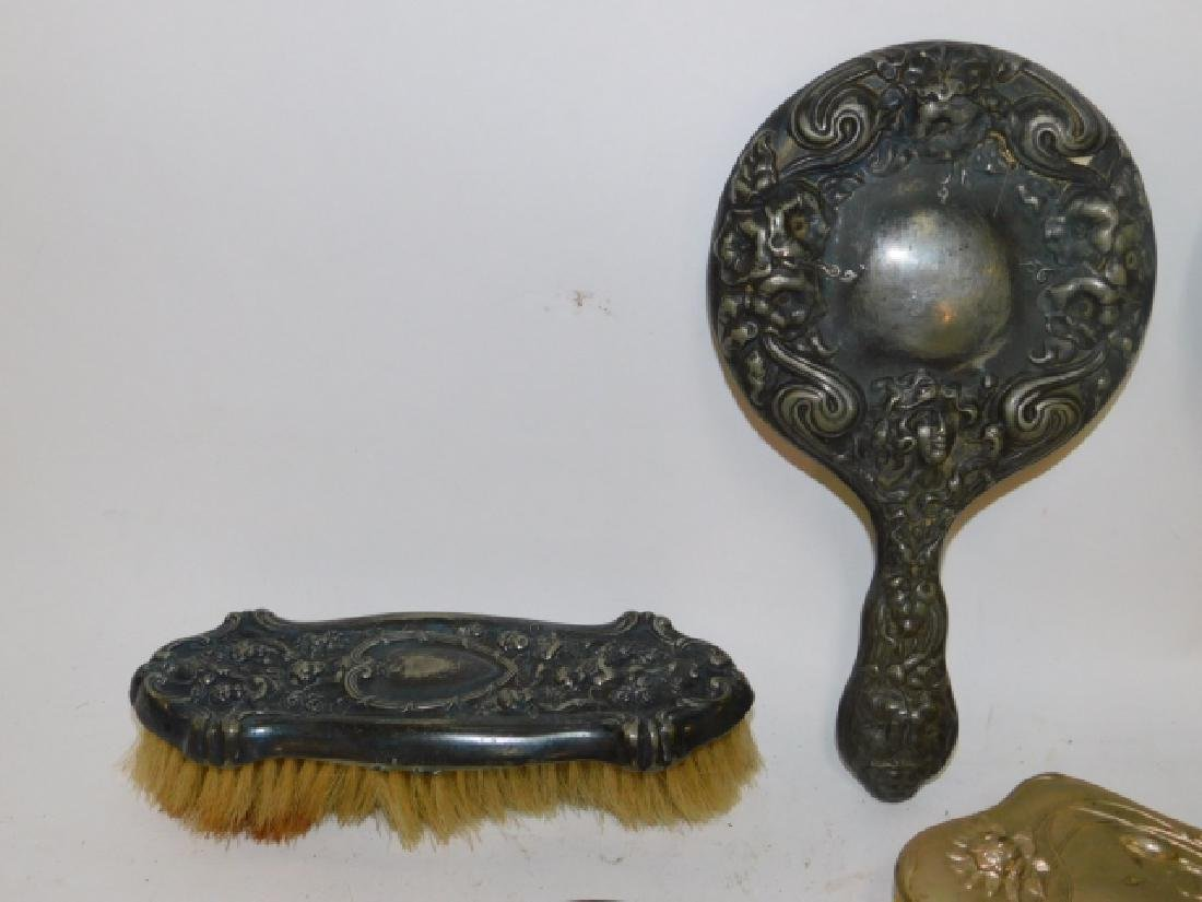 COLLECTION OF DRESSER MIRRORS AND BRUSHES - 4