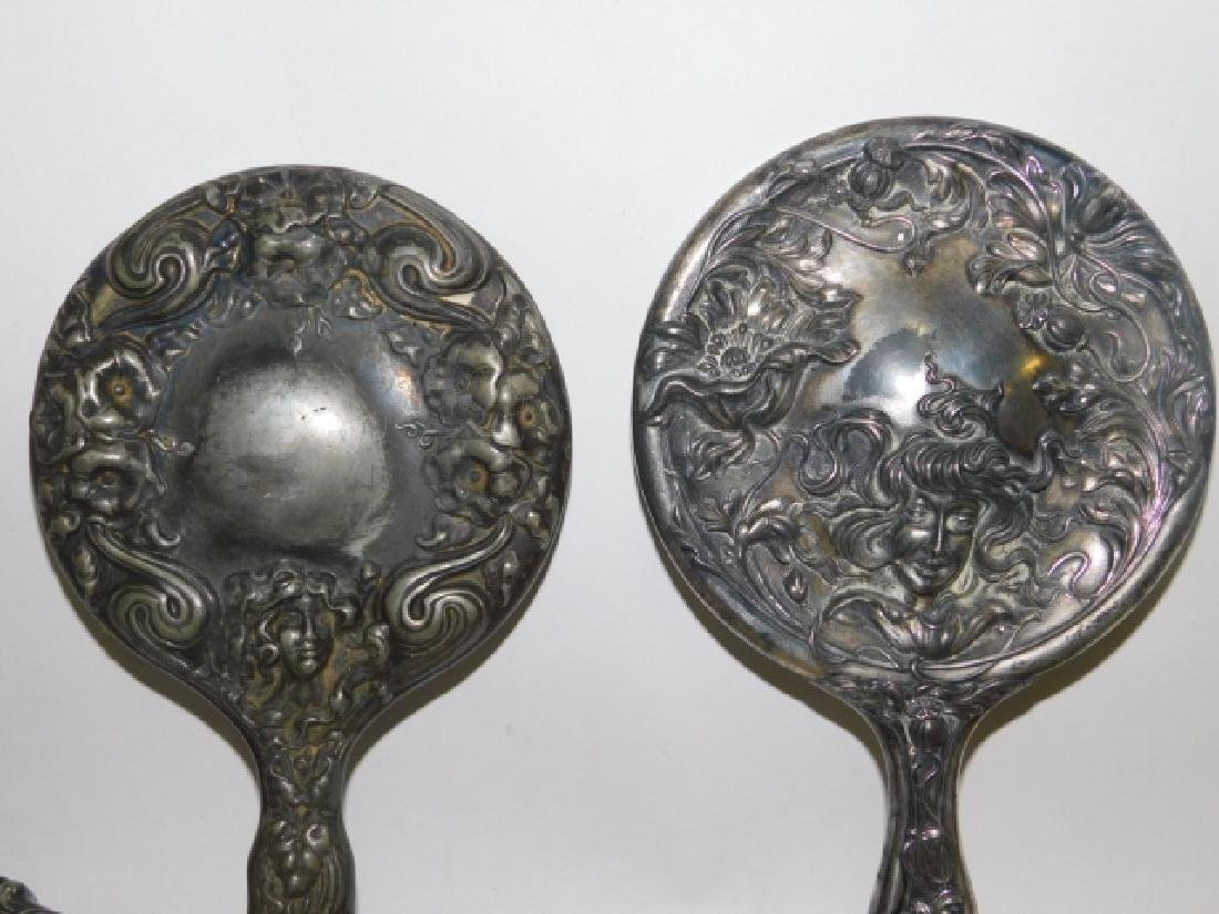 COLLECTION OF DRESSER MIRRORS AND BRUSHES - 8