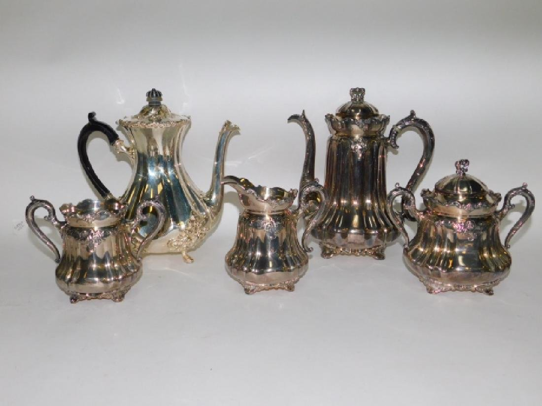 SILVER PLATE TEA/COFFEE SERVING PIECES