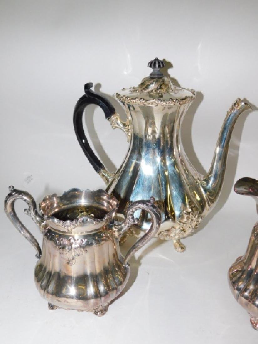 SILVER PLATE TEA/COFFEE SERVING PIECES - 3