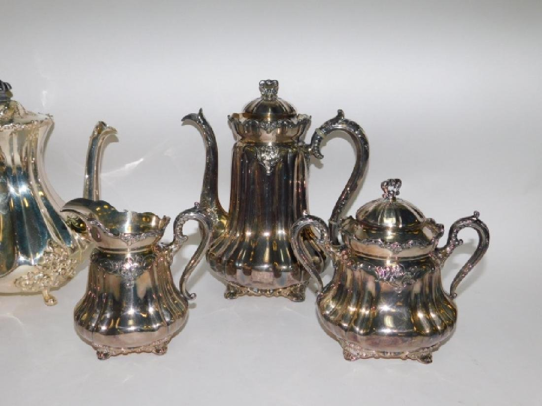SILVER PLATE TEA/COFFEE SERVING PIECES - 4