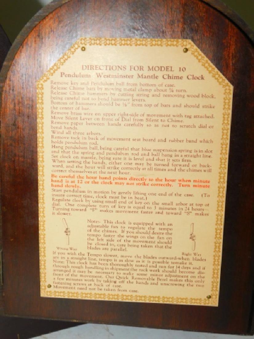 HERSCHEDE HALL MANTEL CLOCK - 5