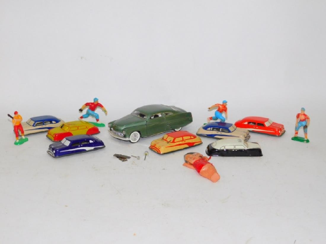 COLLECTION OF TOY CARS AND FIGURES