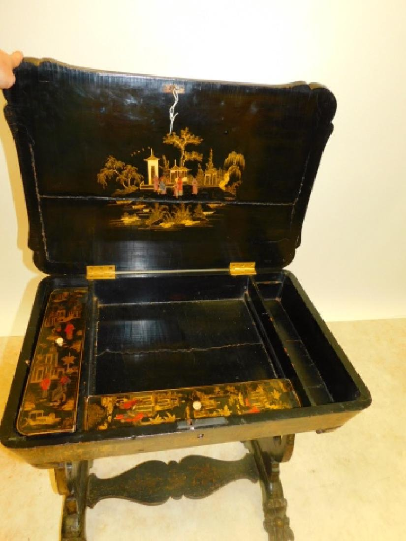 CHINOISERIE SEWING TABLE - 2