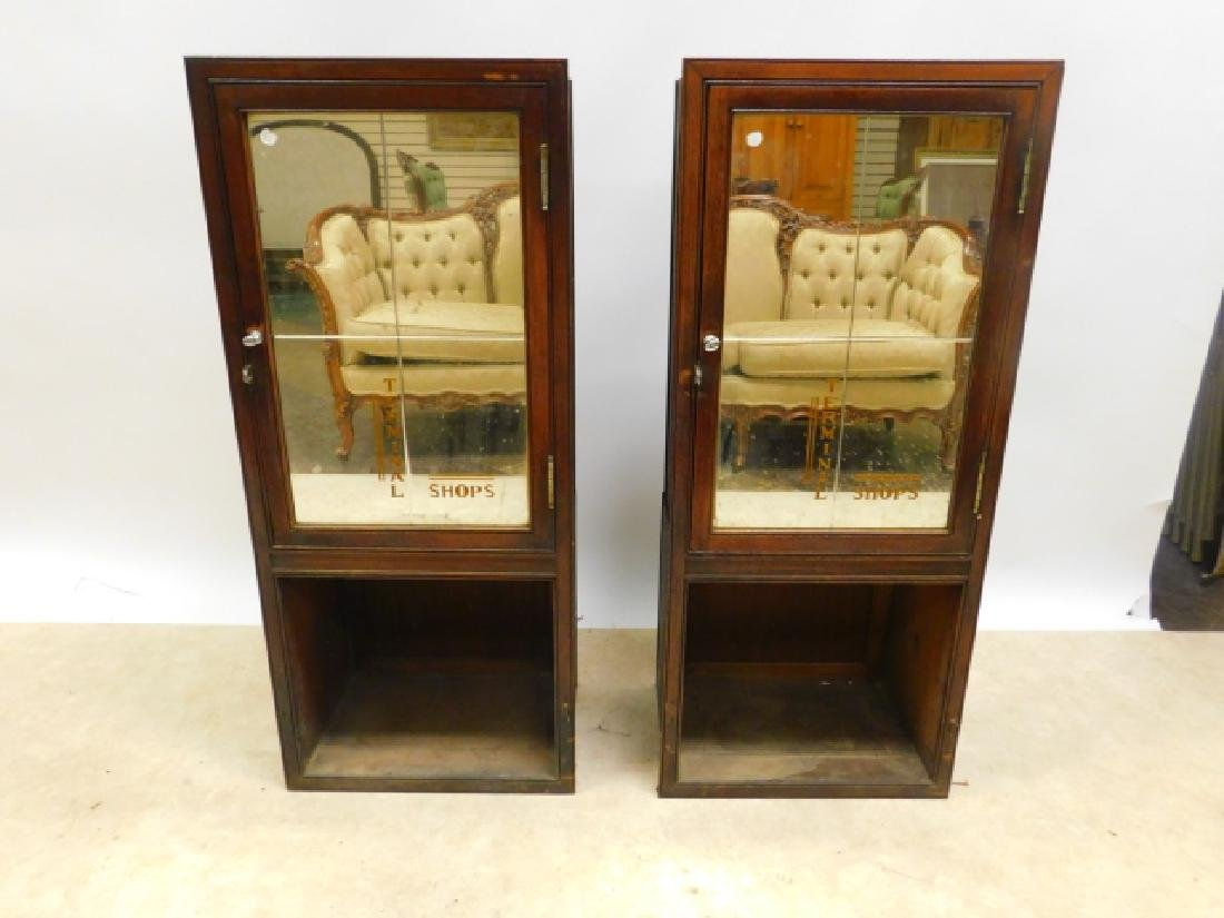 PAIR OF RAILROAD TERMINAL SHOP CABINETS