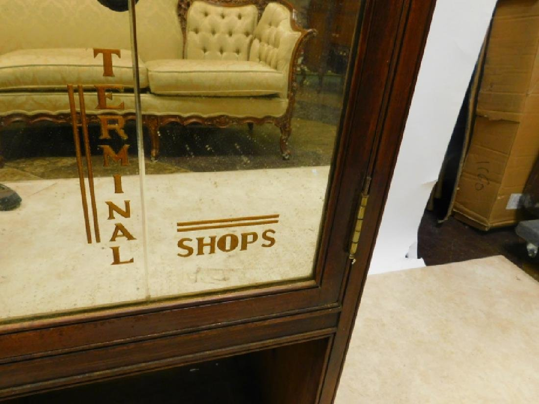 PAIR OF RAILROAD TERMINAL SHOP CABINETS - 2