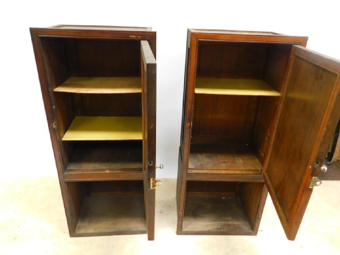 PAIR OF RAILROAD TERMINAL SHOP CABINETS - 3