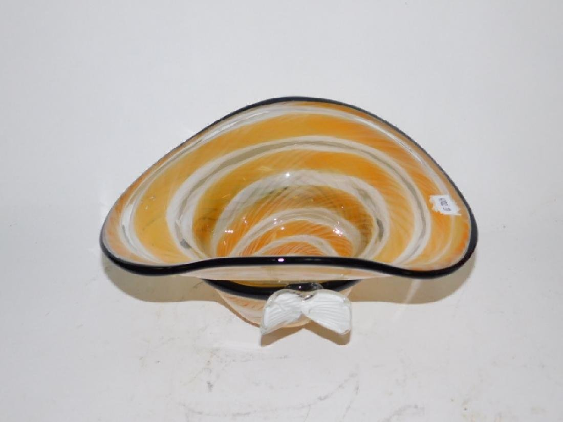 ART GLASS BONNET BOWEL & CENTER PIECE BOWL. - 3