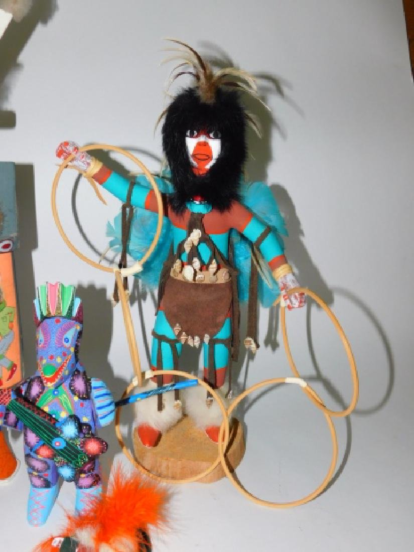 KACHINA DOLLS AND WOOD CARVED FIGURES - 2