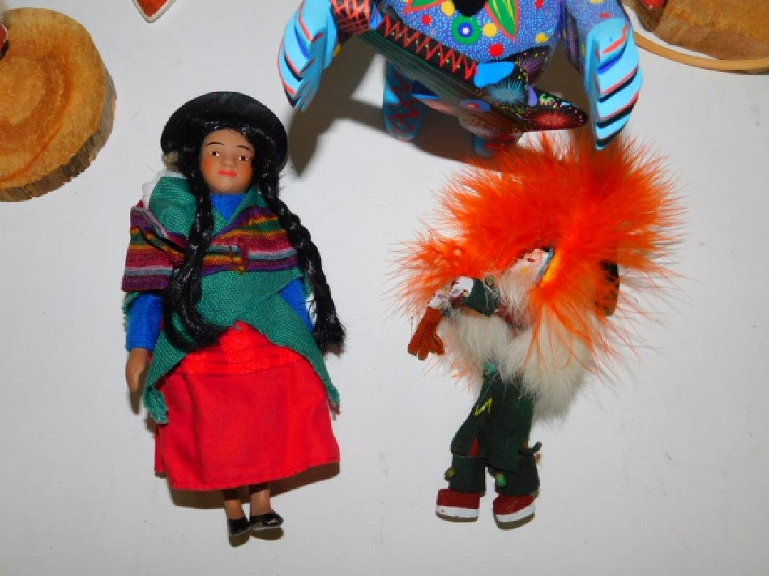 KACHINA DOLLS AND WOOD CARVED FIGURES - 3