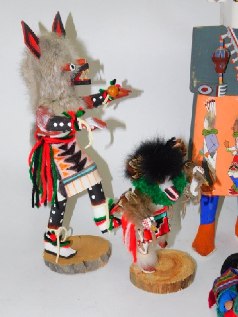 KACHINA DOLLS AND WOOD CARVED FIGURES - 4