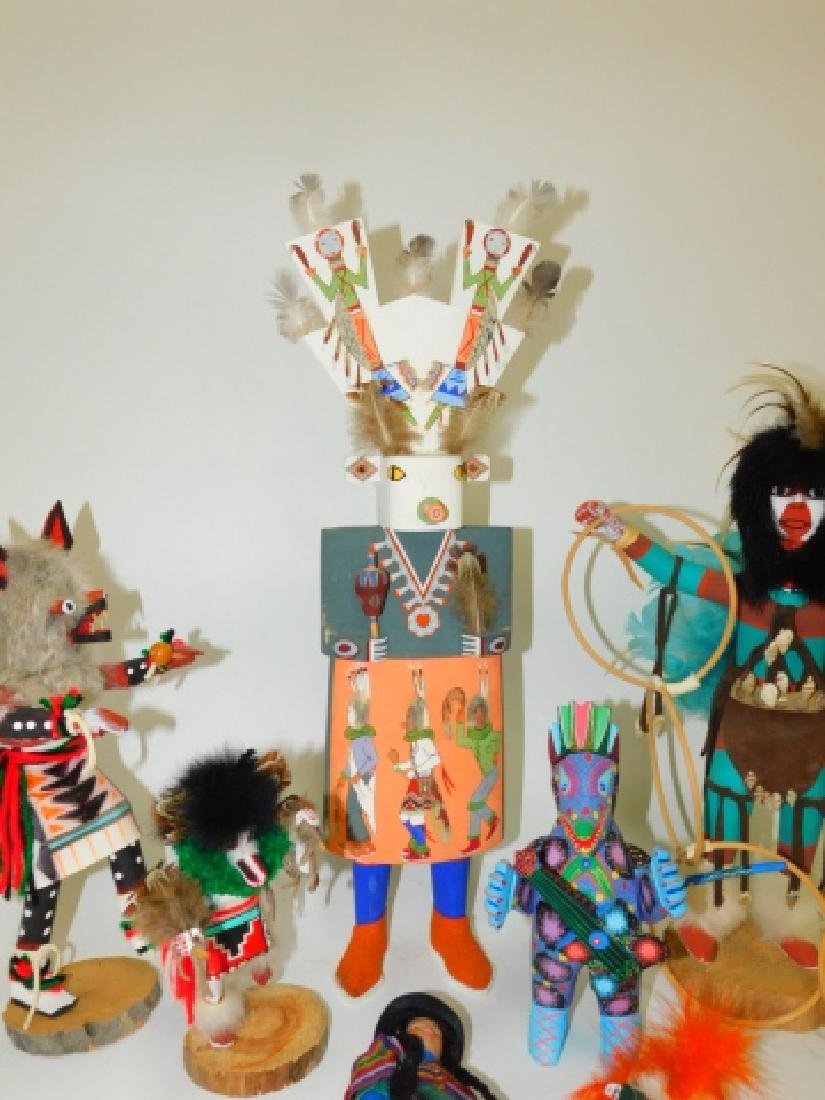 KACHINA DOLLS AND WOOD CARVED FIGURES - 5