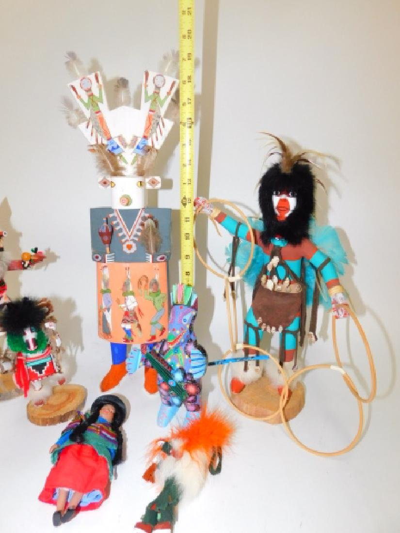 KACHINA DOLLS AND WOOD CARVED FIGURES - 6