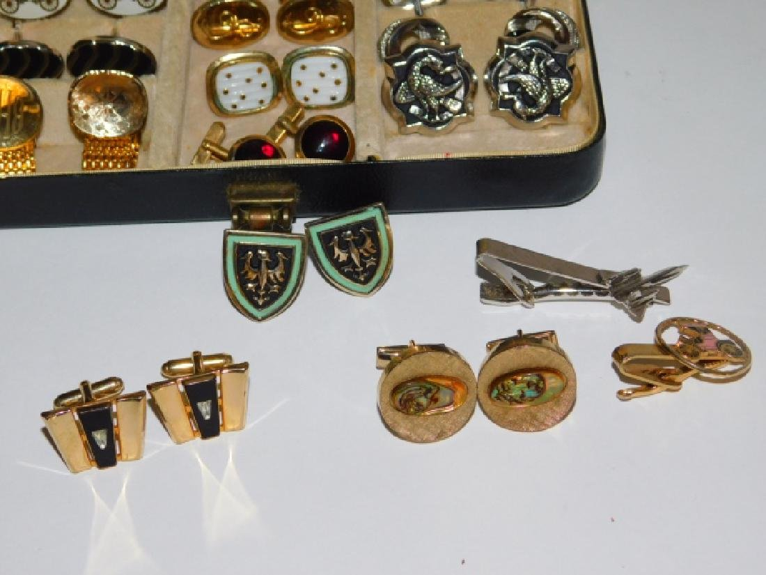 CUFFLINK AND TIE CLIP COLLECTION WITH BOX - 3