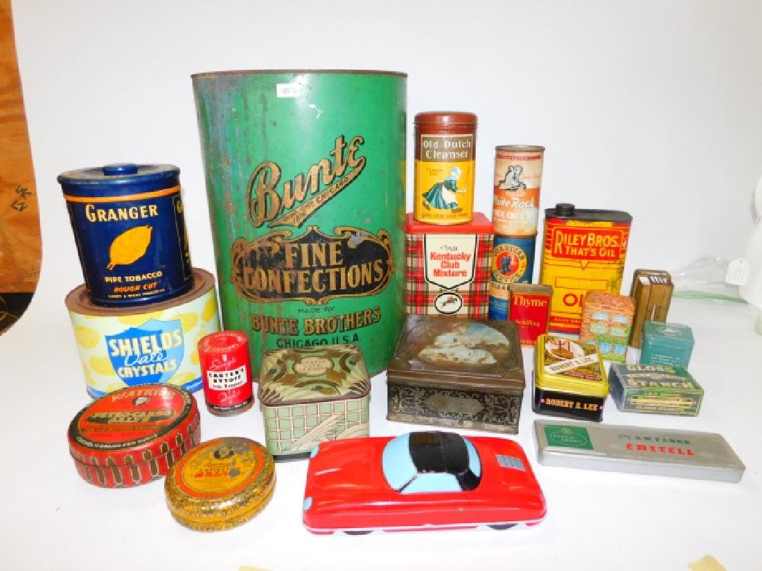 LARGE COLLECTION OF TIN CANISTERS