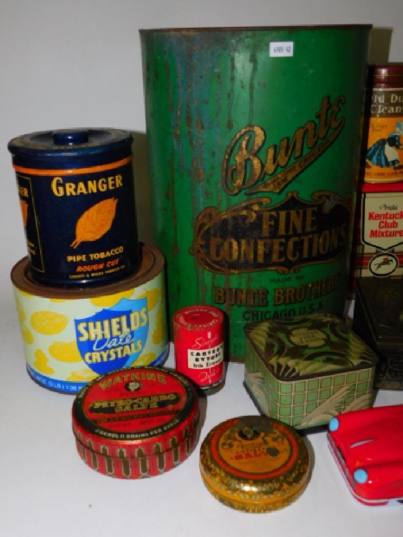 LARGE COLLECTION OF TIN CANISTERS - 2