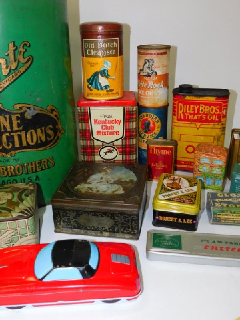 LARGE COLLECTION OF TIN CANISTERS - 3