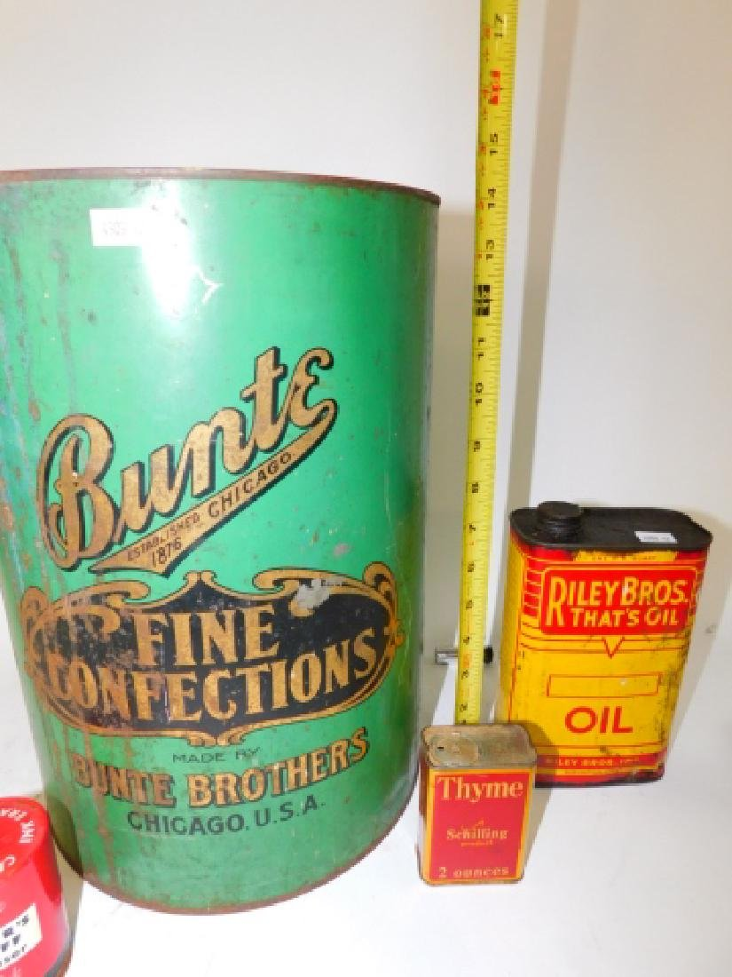 LARGE COLLECTION OF TIN CANISTERS - 4